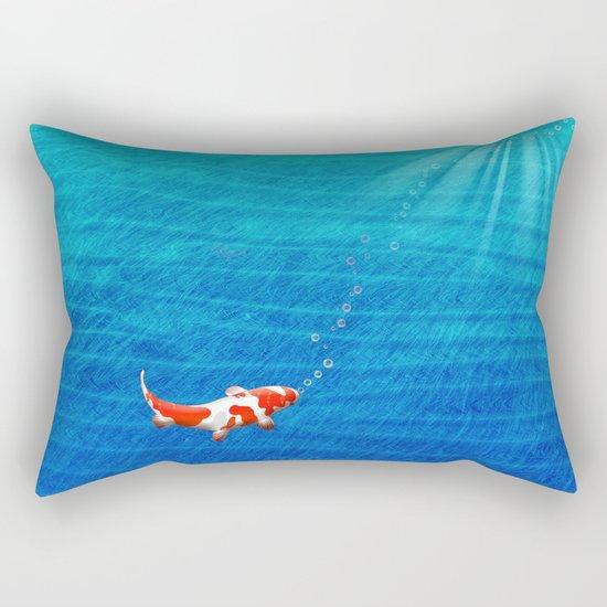 the last koi Rectangular Pillow