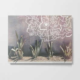 Abbot: Drawings on the Wall Metal Print