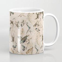 Vintage Grunge Birds Coffee Mug