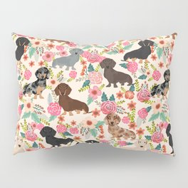 Dachshund floral dog breed pet patterns doxie dachsie gifts must haves Pillow Sham