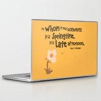 vonnegut Laptop & iPad Skins featuring Springtime by GiantEvilPizza