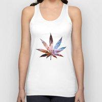 marijuana Tank Tops featuring Marijuana Leaf - Design 2 by Spooky Dooky