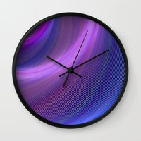 storm Wall Clocks featuring Storm by David Zydd
