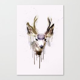 Deer Go-Down Canvas Print