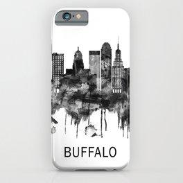 Buffalo New York Skyline BW iPhone Case
