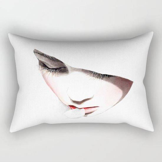 Cherry blossoms girl Rectangular Pillow