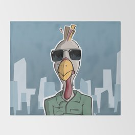 Turkey Driver (Taxi Driver parody) poster Throw Blanket