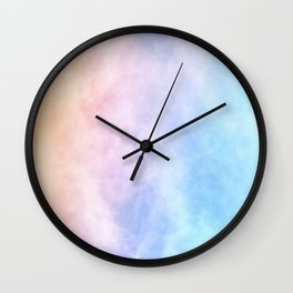 Pink Cotton Candy Wall Clock