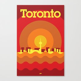 Toronto Minimalism Poster - Summer Red Canvas Print