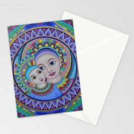 Mother and Child Mandala Stationery Cards