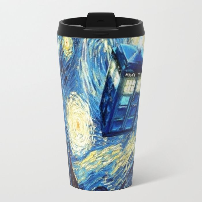 Tardis Doctor Who Starry Night Travel Mug