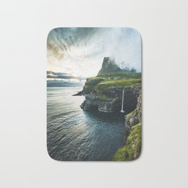 waterfall at faroe Bath Mat