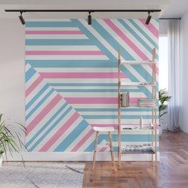 Geometric pattern. Striped triangles 2 Wall Mural