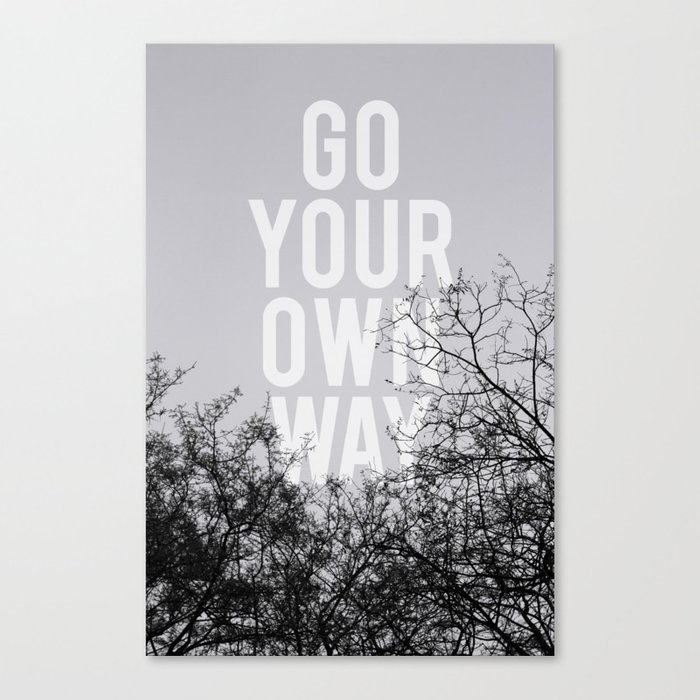 Go Your Own Way II Canvas Print
