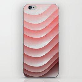 Pink waves iPhone Skin