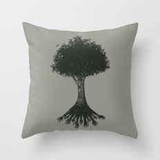 The Root Throw Pillow
