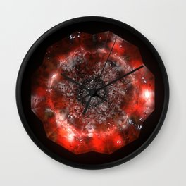 The Eye of Cyma: Fire and Ice - Frame 49 Wall Clock
