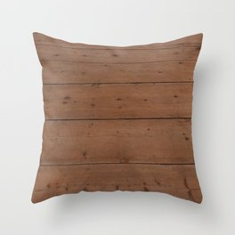 Pattern of honey-colored light wooden boards Throw Pillow