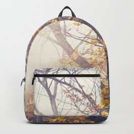 Dreamy yellow forest Backpack
