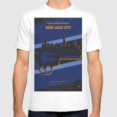 No762 My New Jack City minimal movie poster White MEDIUM Mens Fitted Tee