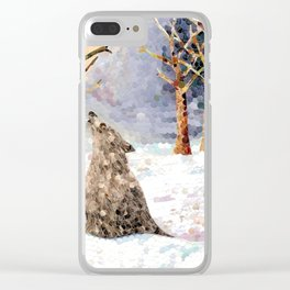 Wolf Serenade Clear iPhone Case