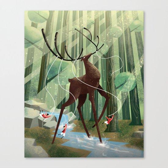 Giant deer Canvas Print