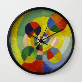 "Robert Delaunay ""Circular Forms"" (detail) Wall Clock"