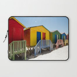 Colorful beach huts Laptop Sleeve