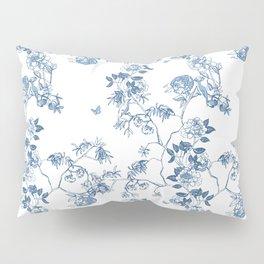 Chinoiserie in White Pillow Sham