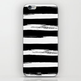 Paint Stripes Black and White iPhone Skin