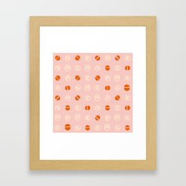 pink and orange modernist Framed Art Print