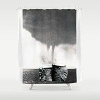 california Shower Curtains featuring California by Erin Case
