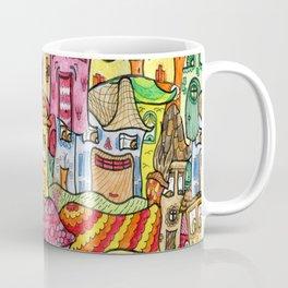 Suburbia watercolor collage Coffee Mug