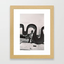 Flying IUD Framed Art Print