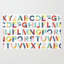 Modern Alphabet Print Rug
