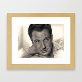Young Vincent Price Framed Art Print