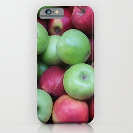 Green and red Apples iPhone Case