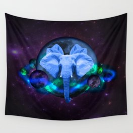 Elephants In Space Wall Tapestry