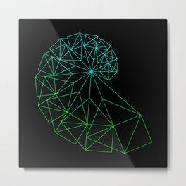 UNIVERSE GREEN Metal Print