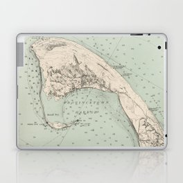 Vintage Map of Provincetown MA (1892) Laptop & iPad Skin