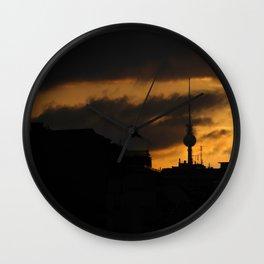 Fire sky Wall Clock