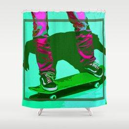 Bold Skater Shower Curtain