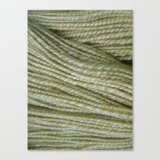 Yellow, light green handspun yarn Canvas Print