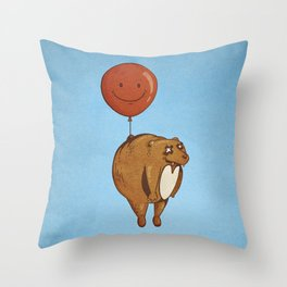Float On, Bear, Float On Throw Pillow