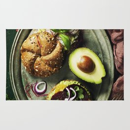 Healthy sandwiches Rug