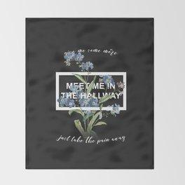 Harry Styles Meet me in the hallway graphic design artwork Throw Blanket