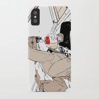 doberman iPhone & iPod Cases featuring Monsieur Doberman by Cassandra Jean