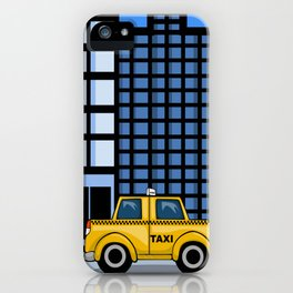 Yellow Taxi iPhone Case