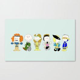 Mutant Superhero Friends Canvas Print