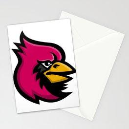 Cardinal Bird Head Mascot Stationery Cards